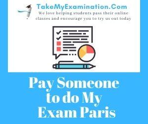 Pay Someone to do My Exam Paris